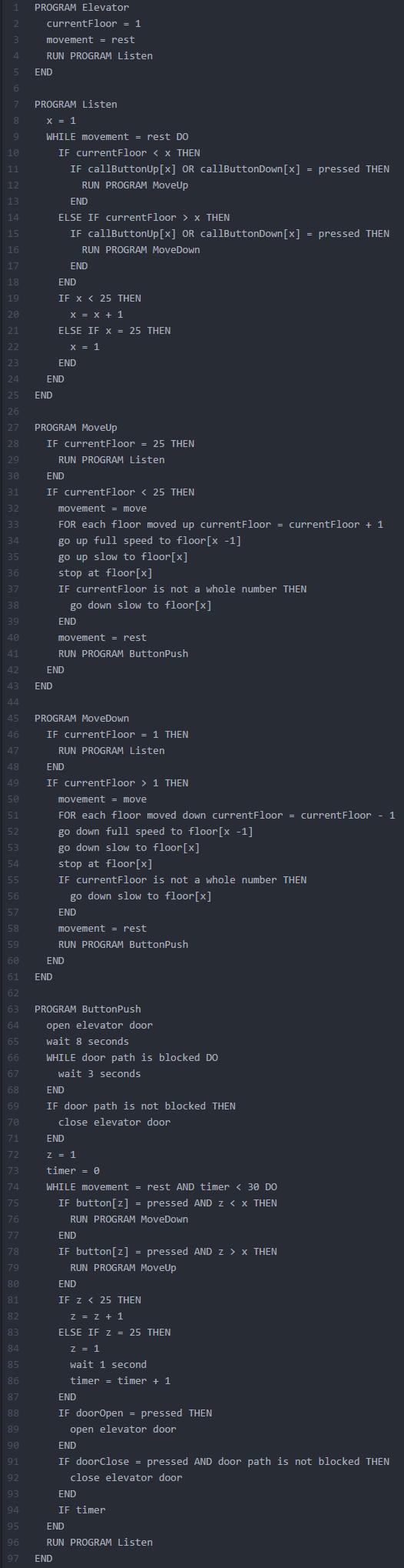 elevator-pseudocode